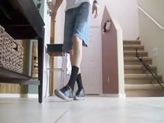 Knotty Rubia con perro salvaje